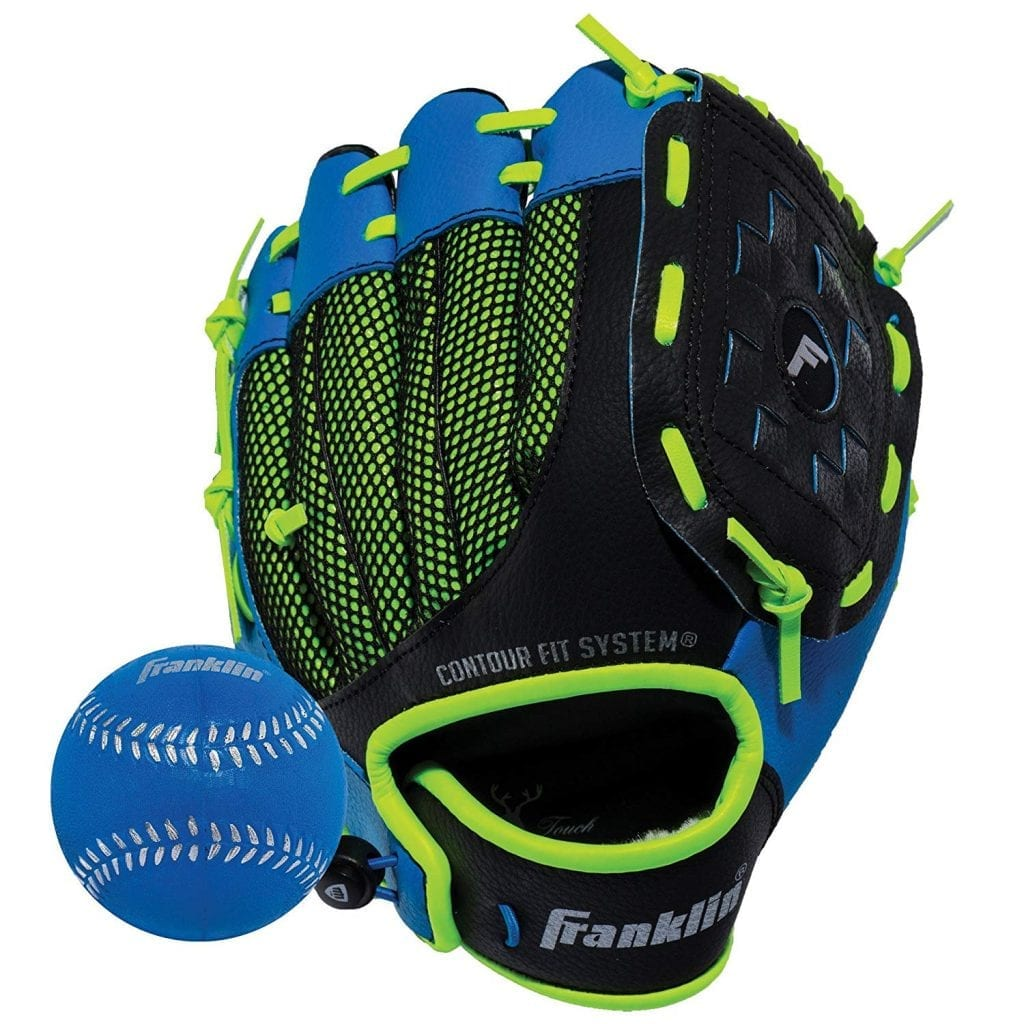 Franklin Synthetic Leather Baseball Glove - Ready To Play Glove with Ball