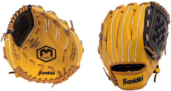 Franklin Sports Field Master Baseball Glove for 9-10 year old