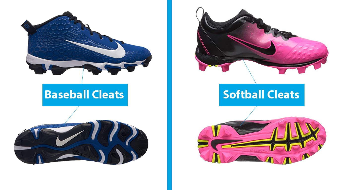 baseball vs softball cleats