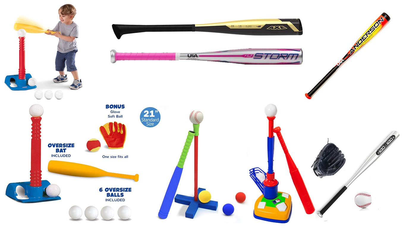 Wooden Baseball Bat Set with Baseball Gloves and Ball Garden Games Sports Games
