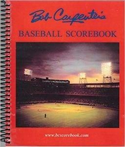 carpenter baseball scorebook