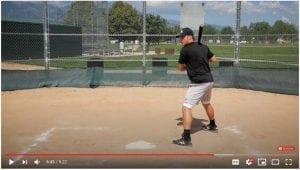 closed batting stance