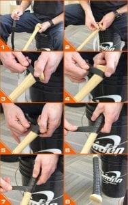 how to wrap an axe bat