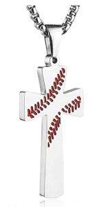 HZMAN Baseball Cross Pendant