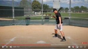 open batting stance